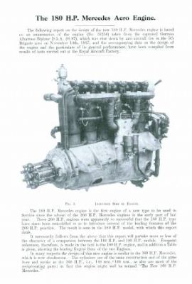 REPORT ON THE 180-HP MERCEDES AERO ENGINE